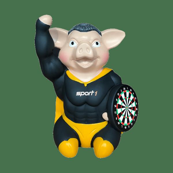 SPORT1 Darts Hero Schwein klein - Drück mich! Ich grunze!