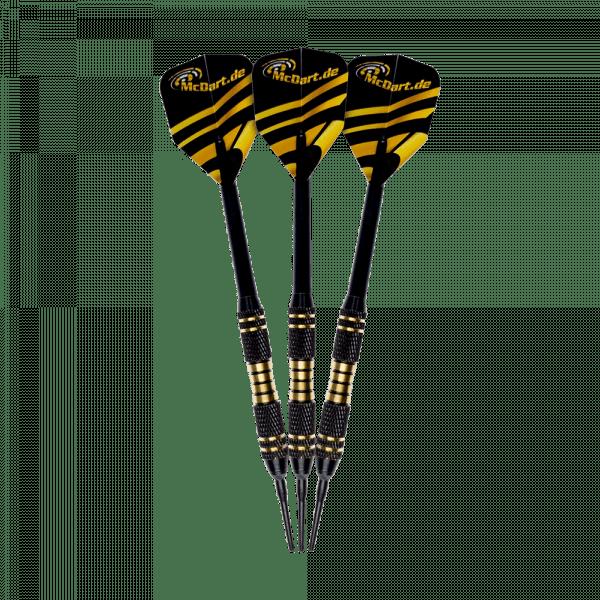 McDart Black/Gold Star Softdarts - 18g