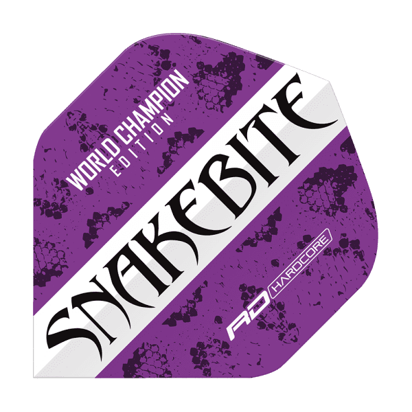 5 Satz Red Dragon Peter Wright World Champion Purple White Flights
