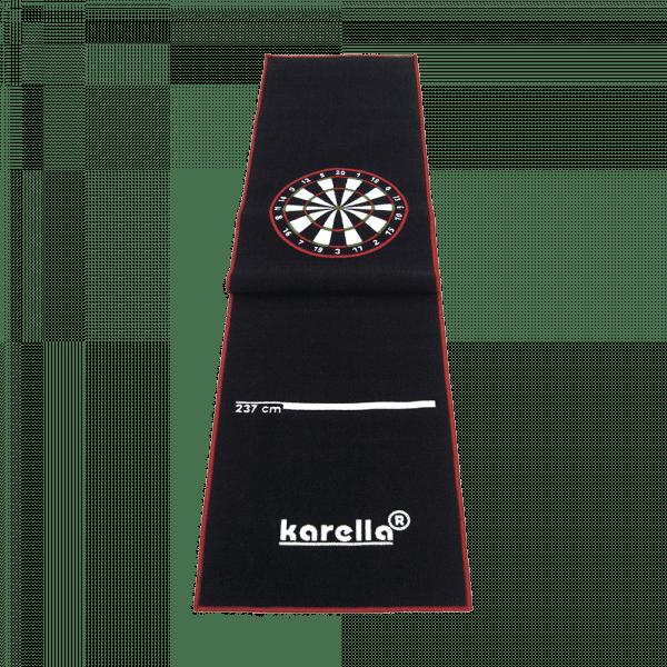 Karella Premium Velour Dartteppich Rot Schwarz