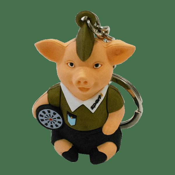 Schlüsselanhänger SPORT1 Darts Irokesenschwein GOLD