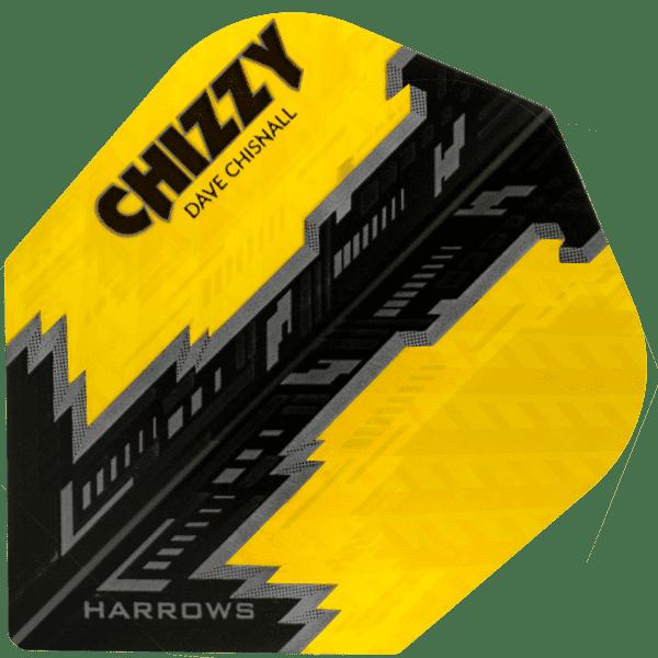 5 Satz Harrows Dave Chisnall Prime Flights - gelb/schwarz